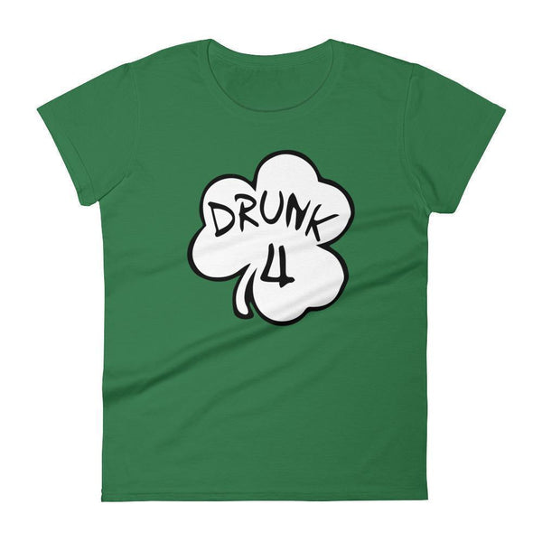 Drunk 4 TShirt Women's drinking shirt for St Patrick Day party Shamrock Shirt-T-Shirt-BelDisegno-Kelly Green-S-BelDisegno