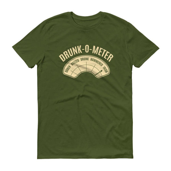 DrunkoMeter Shirt Men's funny drinking shirt for st Patrick Cinco De Mayo Halloween City Green / 3XL T-Shirt BelDisegno