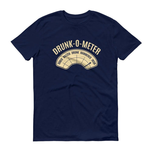 DrunkoMeter Shirt Men's funny drinking shirt for st Patrick Cinco De Mayo Halloween Navy / 3XL T-Shirt BelDisegno