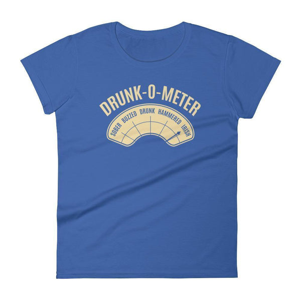 DrunkoMeter tshirt Women's Drinking shirt for St Patrick's day Cinco de Mayo Royal Blue / 2XL T-Shirt BelDisegno