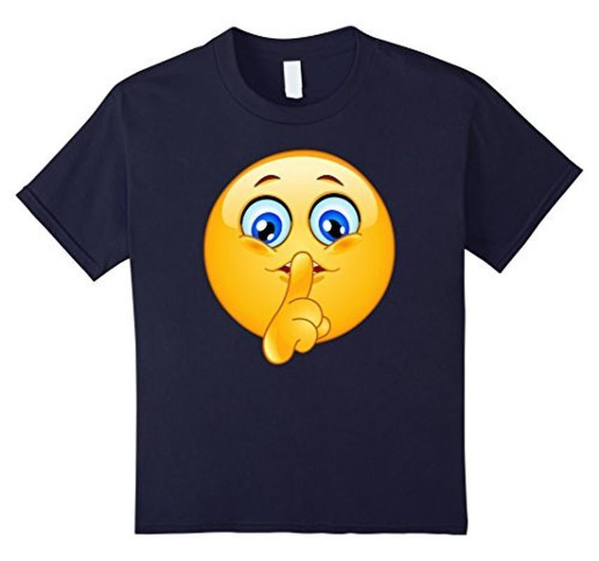 Emoji Emoticon Making Silence Sign T-shirt Navy / 3XL T-Shirt BelDisegno