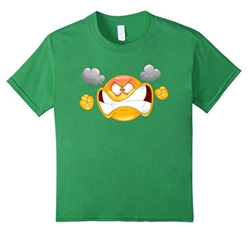 Emoji Furious Angry Emoticon Emoji Tee T-shirt Grass / XL T-Shirt BelDisegno