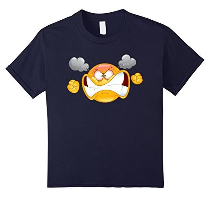 Emoji Furious Angry Emoticon Emoji Tee T-shirt Navy / XL T-Shirt BelDisegno