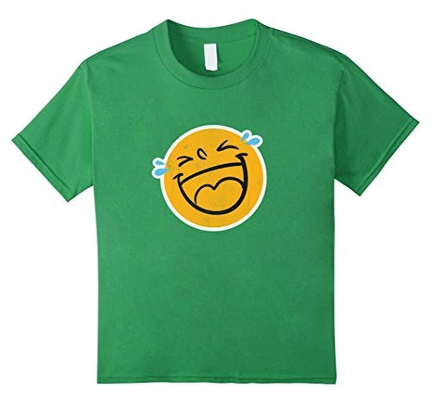 Emoji Laugh Smile Tears NEW Emoticon T-shirt Grass / 3XL T-Shirt BelDisegno