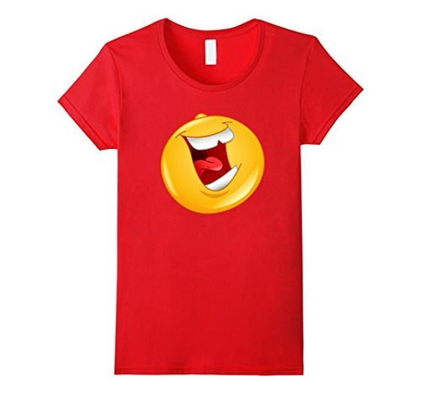 Emoji Laughing out Loud Emoticon T-shirt Red / 3XL T-Shirt BelDisegno