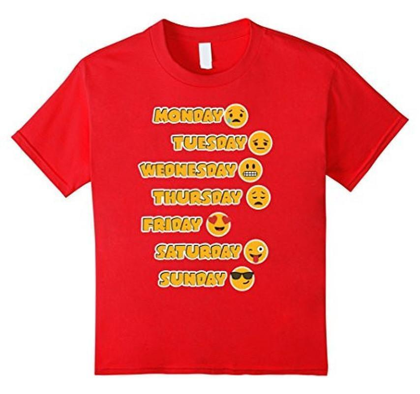 Emoji Love Your Emoticon 7 Days A Week! T-shirt Red / 3XL T-Shirt BelDisegno
