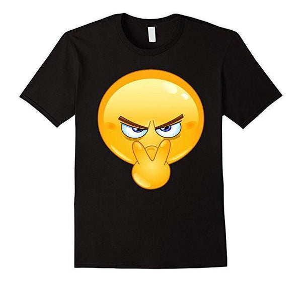 Emoji Pointing to Eyes Emoticon I'm Watchin You T-shirt Black / 3XL T-Shirt BelDisegno