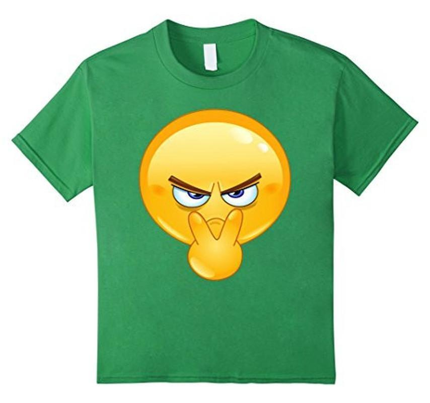 Emoji Pointing to Eyes Emoticon I'm Watchin You T-shirt Grass / 3XL T-Shirt BelDisegno