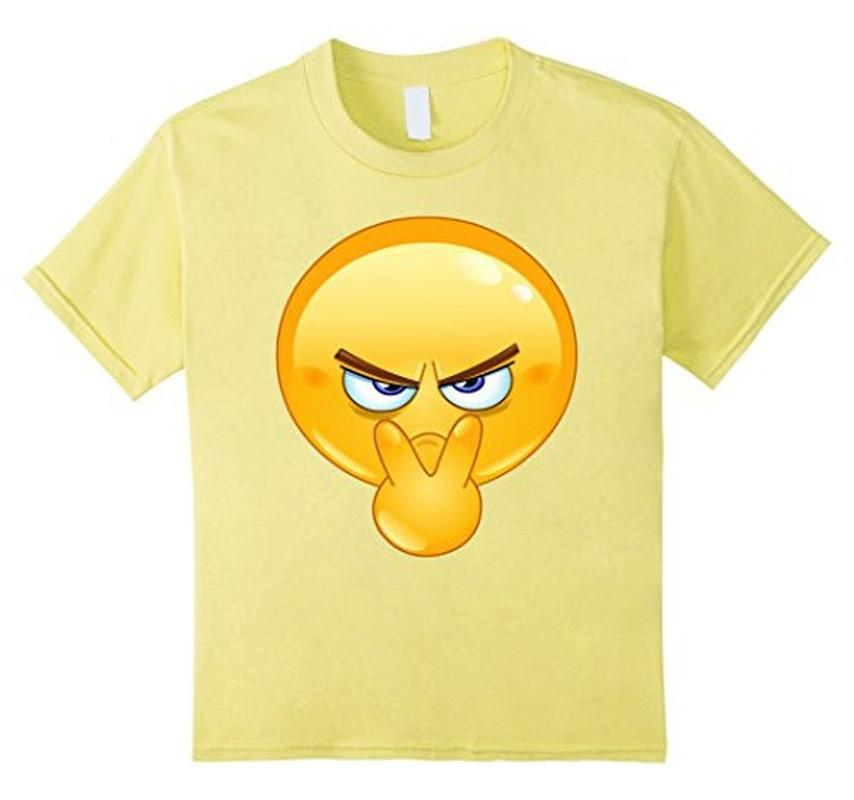 Emoji Pointing to Eyes Emoticon I'm Watchin You T-shirt Lemon / 3XL T-Shirt BelDisegno
