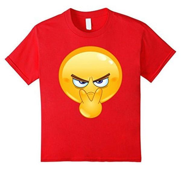 Emoji Pointing to Eyes Emoticon I'm Watchin You T-shirt Red / 3XL T-Shirt BelDisegno