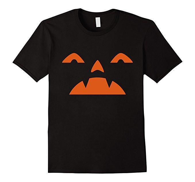 Emoji PUMPKIN Halloween Costume T-shirt Black / XL / Women T-Shirt BelDisegno