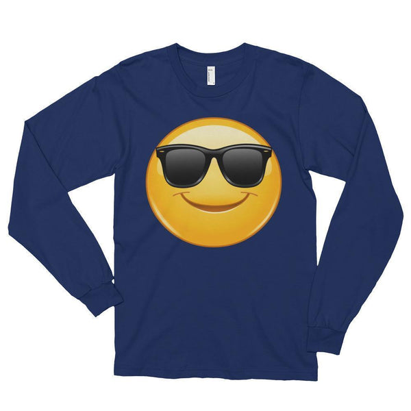 Emoji Sunglasses T-shirt Navy / 2XL T-Shirt BelDisegno