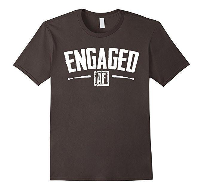 Engaged AF Funny Engagement Bridal Party Gift T-shirt Asphalt / 3XL T-Shirt BelDisegno