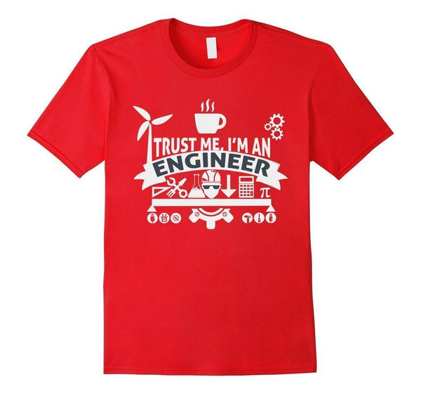 engineer trust me T-shirt Red / XL / Women T-Shirt BelDisegno