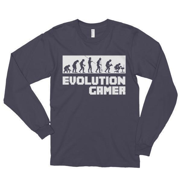 Evolution Of A Gamer PC Geek T-shirt Asphalt / 2XL T-Shirt BelDisegno