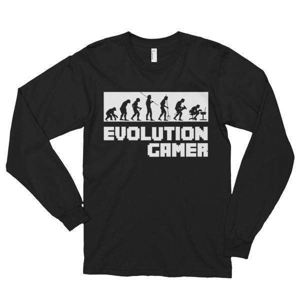 Evolution Of A Gamer PC Geek T-shirt Black / 2XL T-Shirt BelDisegno