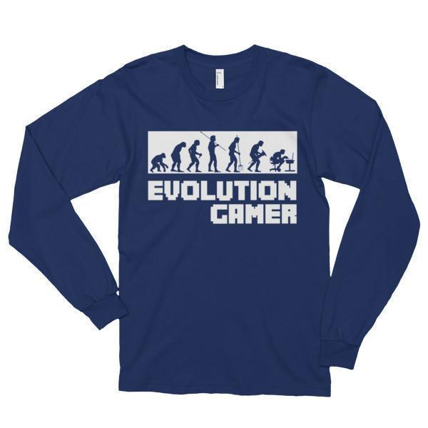Evolution Of A Gamer PC Geek T-shirt Navy / 2XL T-Shirt BelDisegno