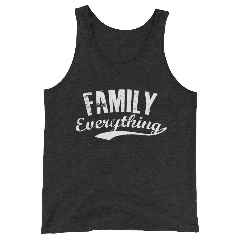 buy Family Everything Tank Top Family lovers gifts online at BELDISEGNO for just $25.00 | Color Charcoal-black Triblend | Size XS