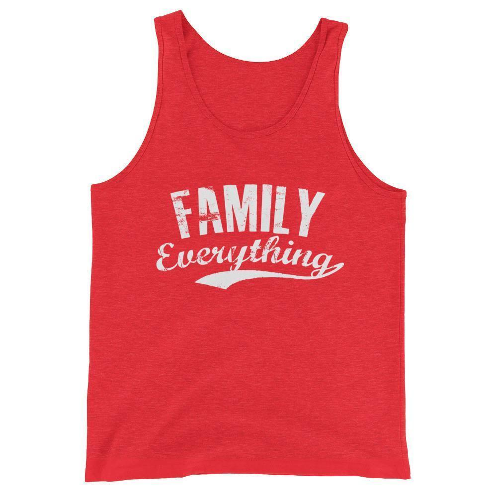 buy Family Everything Tank Top Family lovers gifts online at BELDISEGNO for just $25.00 | Color Red Triblend | Size XS