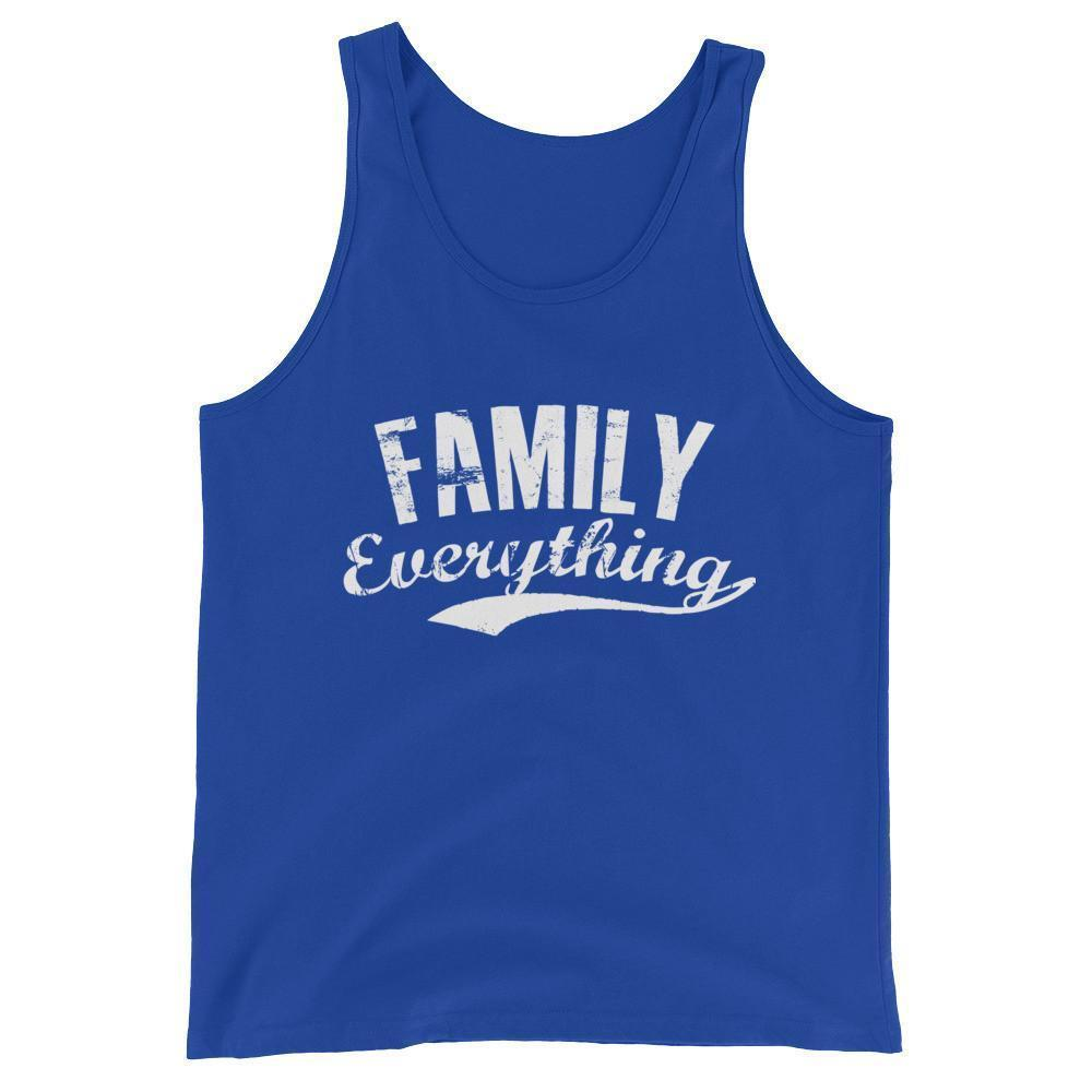buy Family Everything Tank Top Family lovers gifts online at BELDISEGNO for just $25.00 | Color True Royal | Size XS