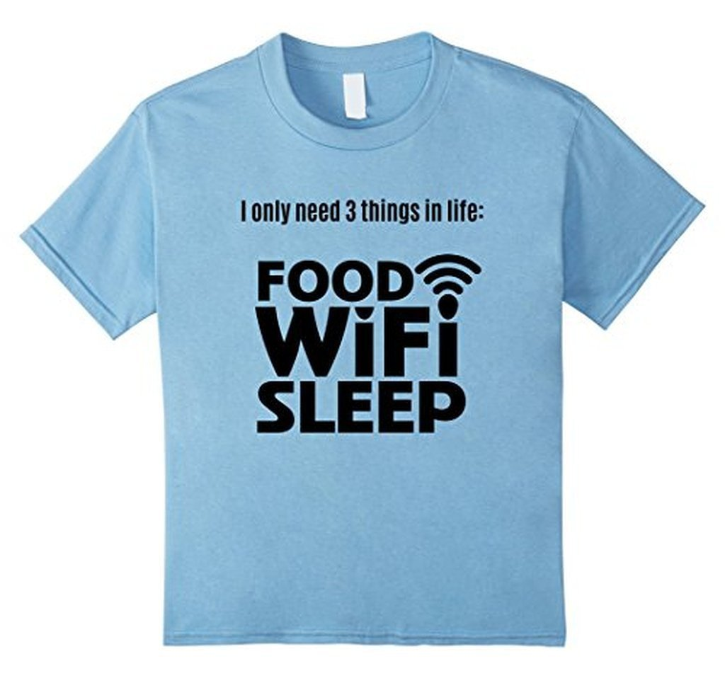 FOOD WiFi Sleep funny t T-shirt Baby Blue / 3XL T-Shirt BelDisegno