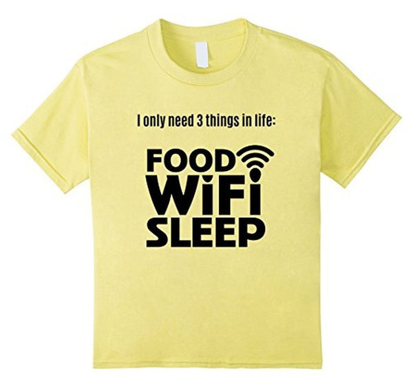 FOOD WiFi Sleep funny t T-shirt Lemon / 3XL T-Shirt BelDisegno