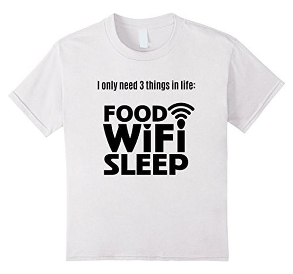 FOOD WiFi Sleep funny t T-shirt White / 3XL T-Shirt BelDisegno