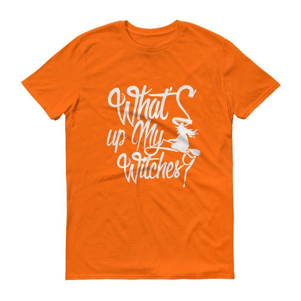 Funny Halloween witches tshirt Men's What's Up my witches shirt Mandarin Orange / 3XL T-Shirt BelDisegno