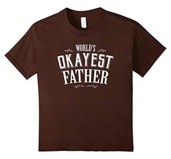 Funny World's Okayest Father T-shirt Brown / 3XL T-Shirt BelDisegno
