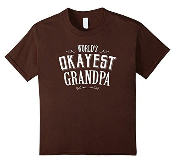Funny Worlds Okayest Grandpa T-shirt Brown / 3XL T-Shirt BelDisegno