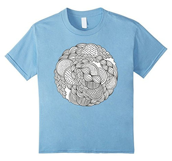 Geometric Coloring for Adults Girls Kids T-shirt Baby Blue / 3XL T-Shirt BelDisegno