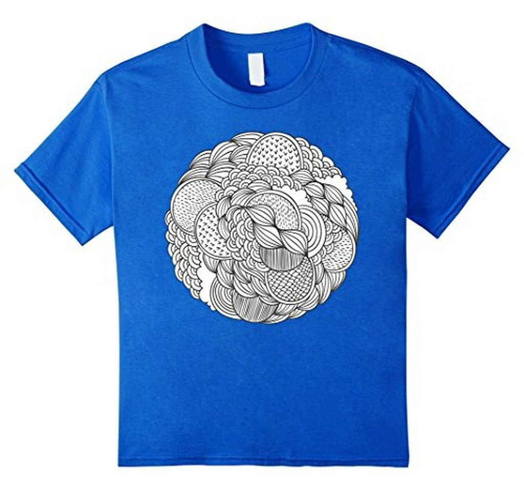 Geometric Coloring for Adults Girls Kids T-shirt Royal Blue / 3XL T-Shirt BelDisegno
