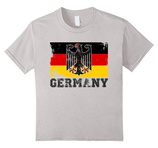 Germany Flag T-shirt Silver / 3XL T-Shirt BelDisegno