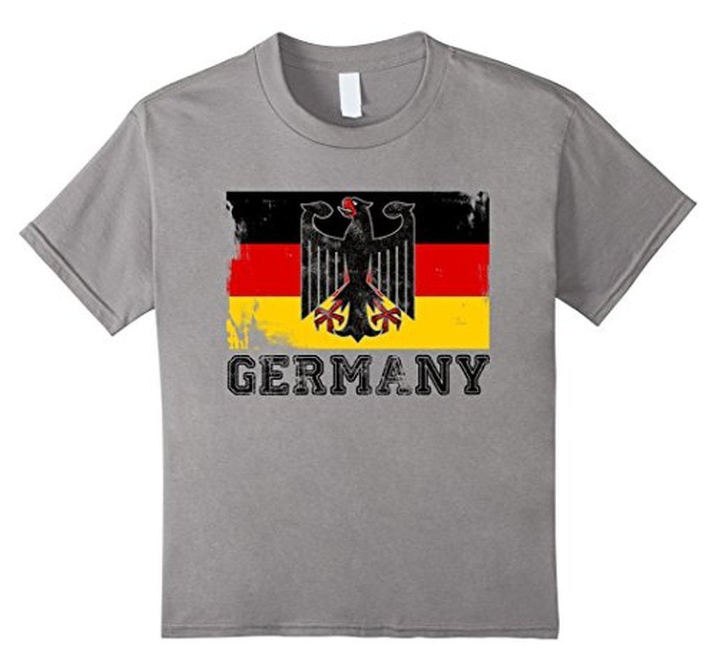 Germany Flag T-shirt Slate / 3XL T-Shirt BelDisegno