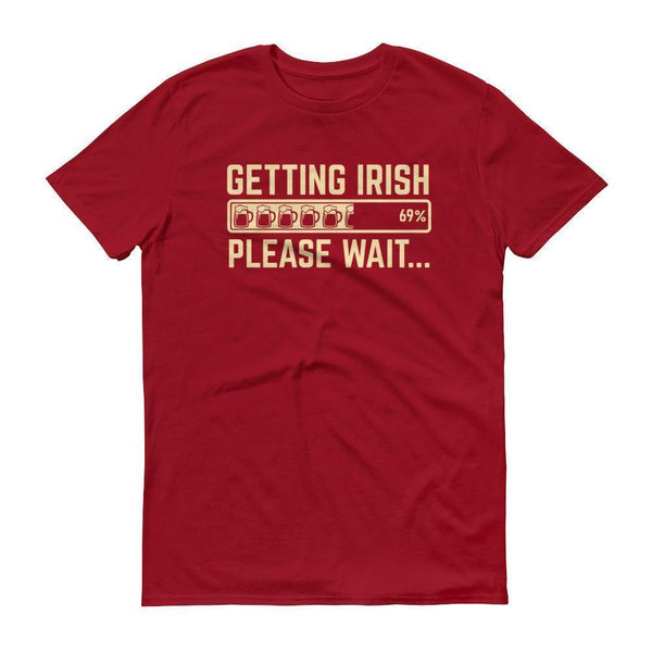 Getting IRISH shirt Men's funny drinking shirt for party st Patrick's-T-Shirt-BelDisegno-Independence Red-S-BelDisegno
