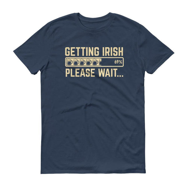 Getting IRISH shirt Men's funny drinking shirt for party st Patrick's-T-Shirt-BelDisegno-Lake-S-BelDisegno