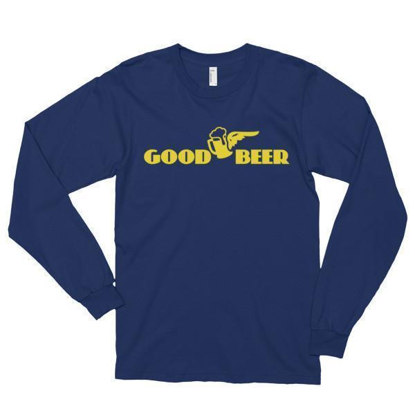 Good Beer instead of Good Year Funny T-shirt Navy / 2XL T-Shirt BelDisegno