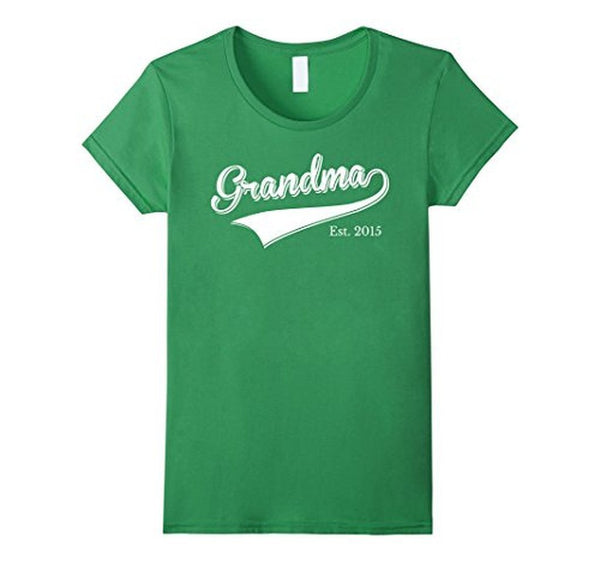 Grandma Est 2015 T Mother Day Gift for New Grandma T-shirt Grass / XL T-Shirt BelDisegno