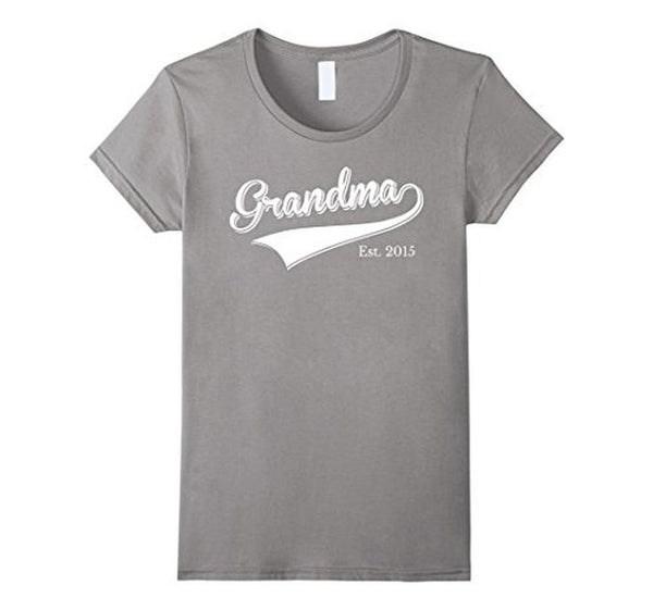 Grandma Est 2015 T Mother Day Gift for New Grandma T-shirt Heather Grey / XL T-Shirt BelDisegno