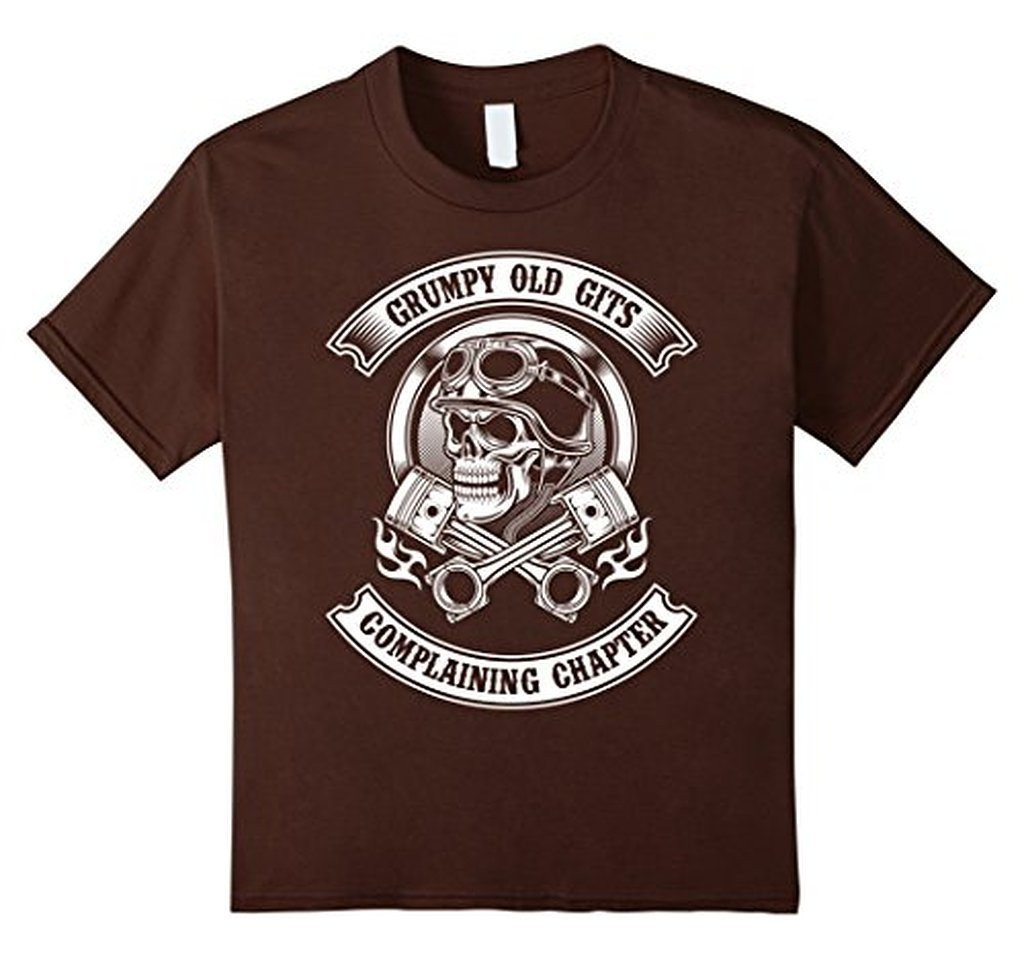 Grumpy Old Gits Club Funny grumpy old saying Tee T-shirt Brown / 3XL T-Shirt BelDisegno