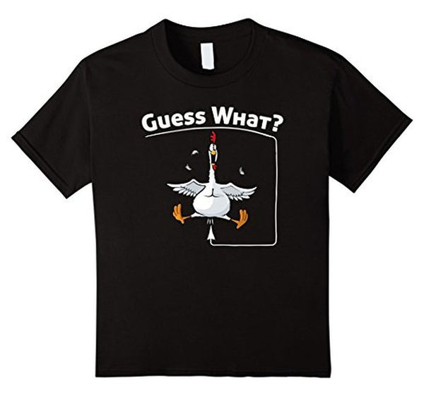 Guess What Chicken Butt Funny Graphic T-shirt Black / 3XL T-Shirt BelDisegno