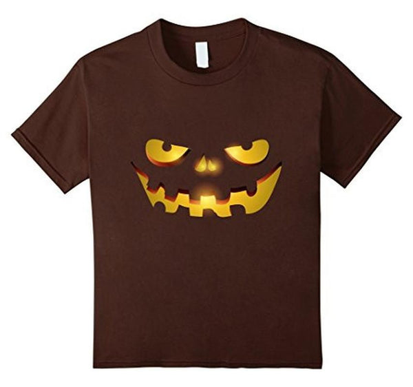 Halloween Scary Face Halloween Costume Tee TShirt-T-Shirt-BelDisegno-Brown-S-BelDisegno