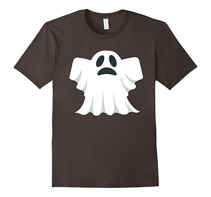 Halloween Scary Ghost Face Halloween Costume T-shirt Asphalt / 3XL T-Shirt BelDisegno