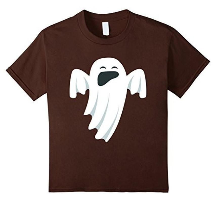 Halloween Scary Ghost Face Halloween Costume T-shirt Brown / XL / Women T-Shirt BelDisegno
