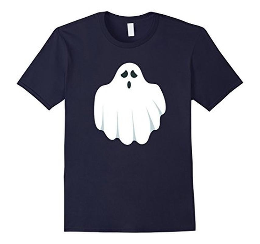 Halloween Scary Ghost Face Halloween Costume T-shirt Navy / 3XL T-Shirt BelDisegno
