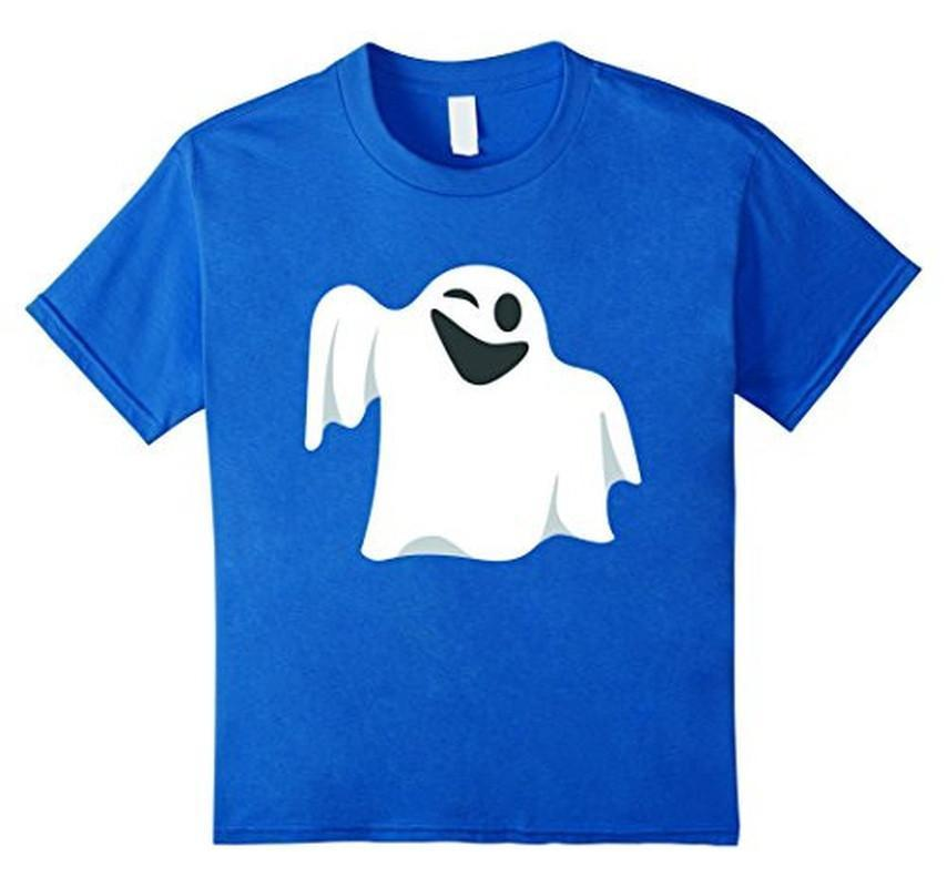 Halloween Scary Ghost Face Halloween Costume T-shirt Royal Blue / 3XL T-Shirt BelDisegno