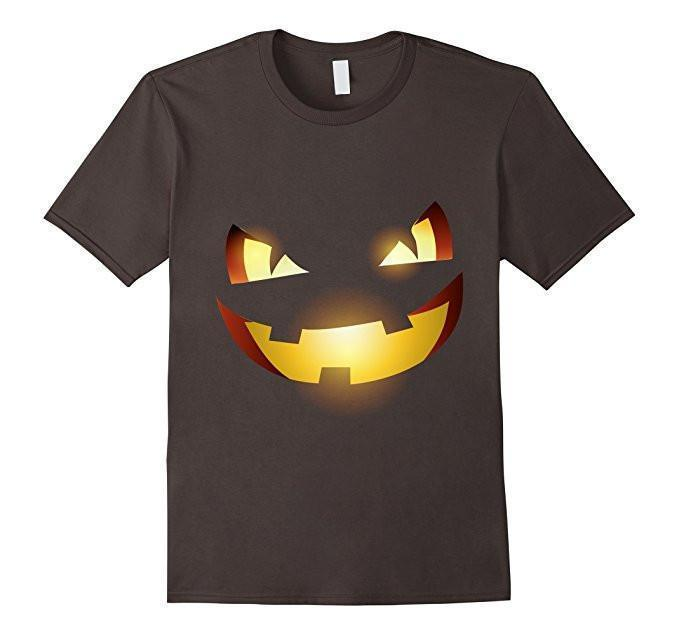 Halloween Scary Pumpkin Face Halloween Costume T-shirt Asphalt / 3XL T-Shirt BelDisegno