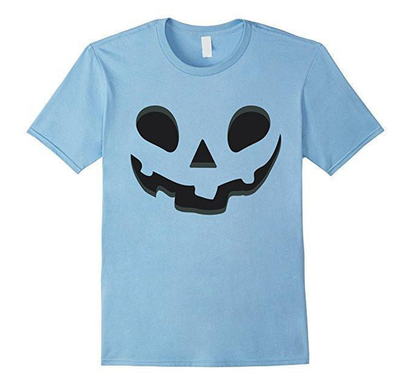 Halloween Scary Pumpkin Face Halloween Costume T-shirt Baby Blue / XL / Women T-Shirt BelDisegno