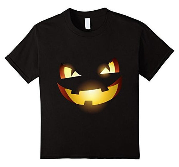 Halloween Scary Pumpkin Face Halloween Costume T-shirt Black / 3XL T-Shirt BelDisegno