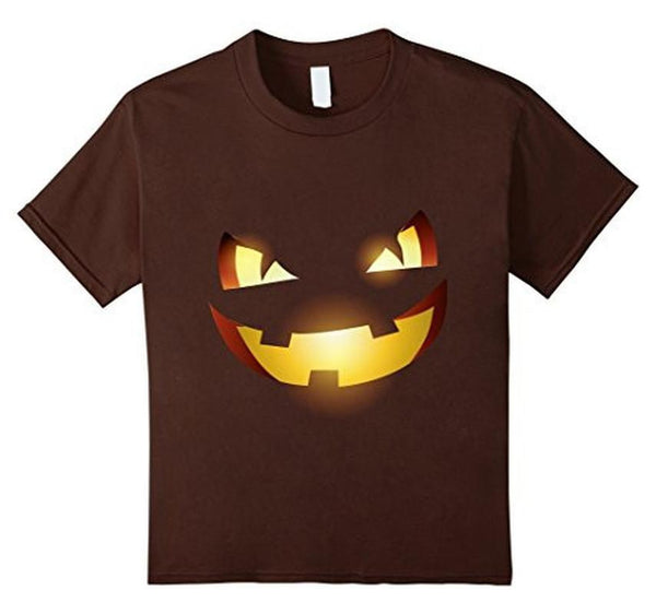 Halloween Scary Pumpkin Face Halloween Costume T-shirt Brown / 3XL T-Shirt BelDisegno